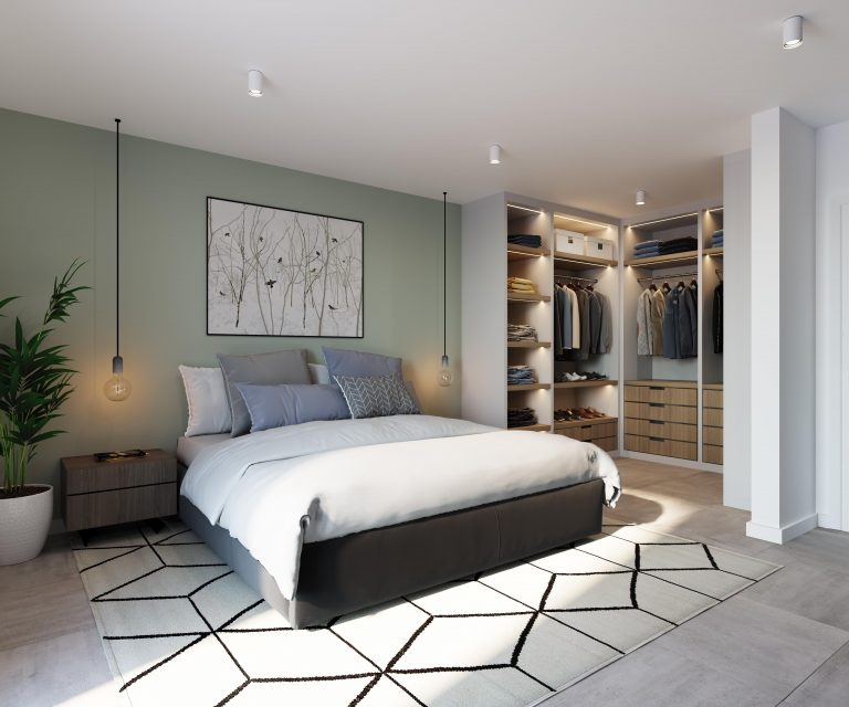 M360° Merelbeke slaapkamer nieuwbouw appartementen