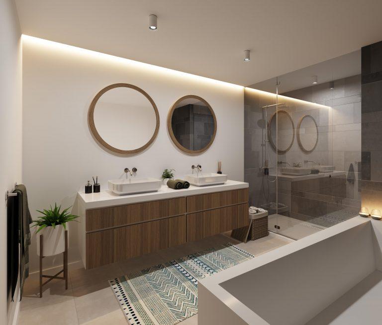 M360° Merelbeke badkamer nieuwbouw appartementen
